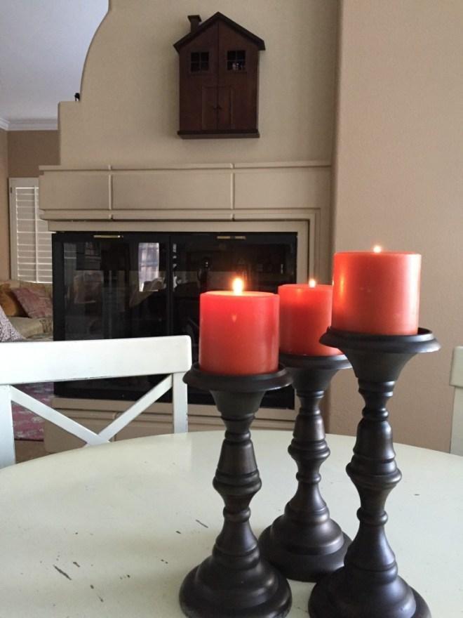 Warm pumpkin candles