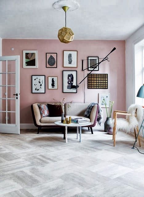 Pink Scandinavian style