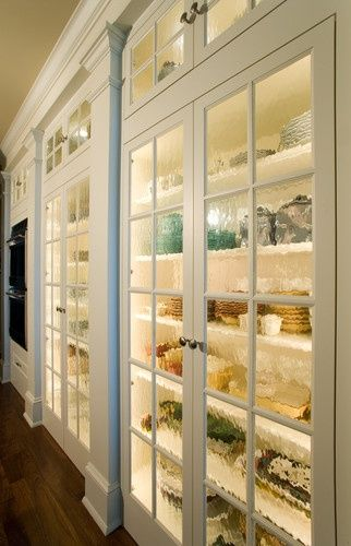 Full length glass cabinets