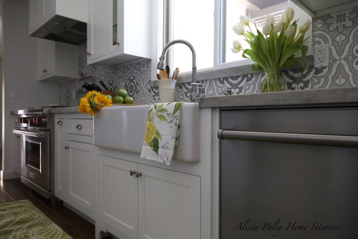 Lynn Ranch Kitchen Remodel - Environmentally Friendly Tile, USA Made Appliances, Wolf Range, Rohl Sink, Quartzite Countertop, Custom Cabinets