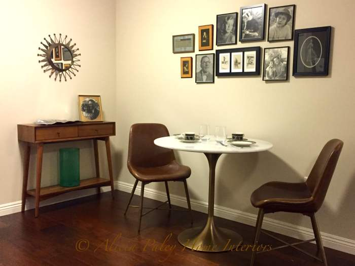 Mid-Century Modern Dining Area Apartment Living Interior Design 91360
