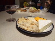 January 11 - Guilty pleasure (wine and cheese...mmm....)