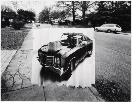 Murray Riss American, born 1940 Tricycle, Car Ad, and Sneakers, Part of Flying Objects Series, 1974 Gelatin silver prints Museum purchase through the National Endowment for the Arts, 75.235, 75.236, and 75.237