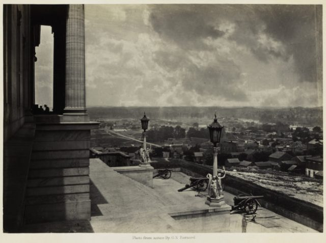 George N. Barnard, Nashville from the Capitol, from Photographic Views of Sherman's Campaign, 1864; albumen print; 10 1/8 x 14 1/8 in. (25.72 x 35.88 cm); Collection of the Sack Photographic Trust