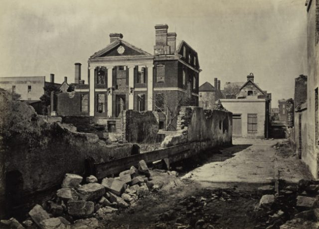 George N. Barnard, Ruins of the Pinckney Mansion, Charleston, South Carolina, from Photographic Views of Sherman's Campaign, 1865; albumen print; 10 x 14 in. (25.4 x 35.56 cm); Collection of the Sack Photographic Trust
