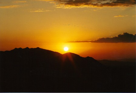 Sunrise Over the Washoe Mountains