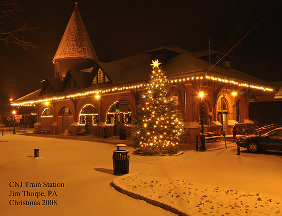 CNJ Train Station - Jim Thorpe, PA - Christmas 2008
