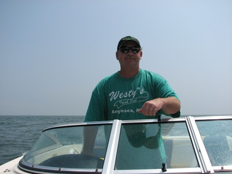 Commander West on Patrol in the Waters off Strathmere, NJ