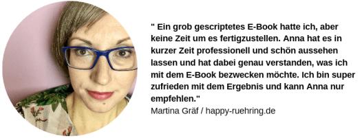 Testimonial Martina von Happy Rühring