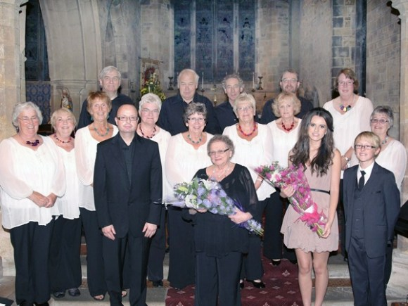 Concert performers in Thorpe Malsor church