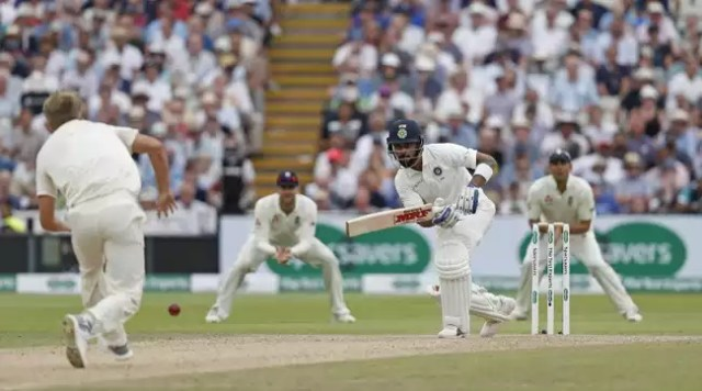 Virat Kohli stands tall amid quick Indian collapse.