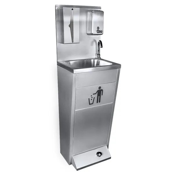 hand washing sink made from stainless steel washing station