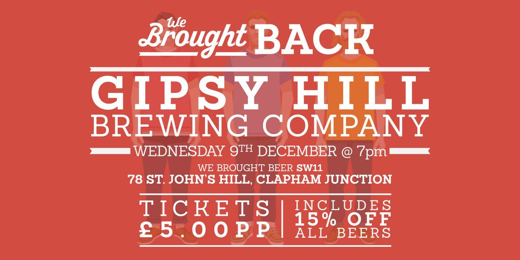 Meet the Brewer at We Brought Beer, Clapham image