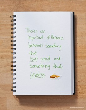 There's an important difference between something that isn't used and something that's useless.