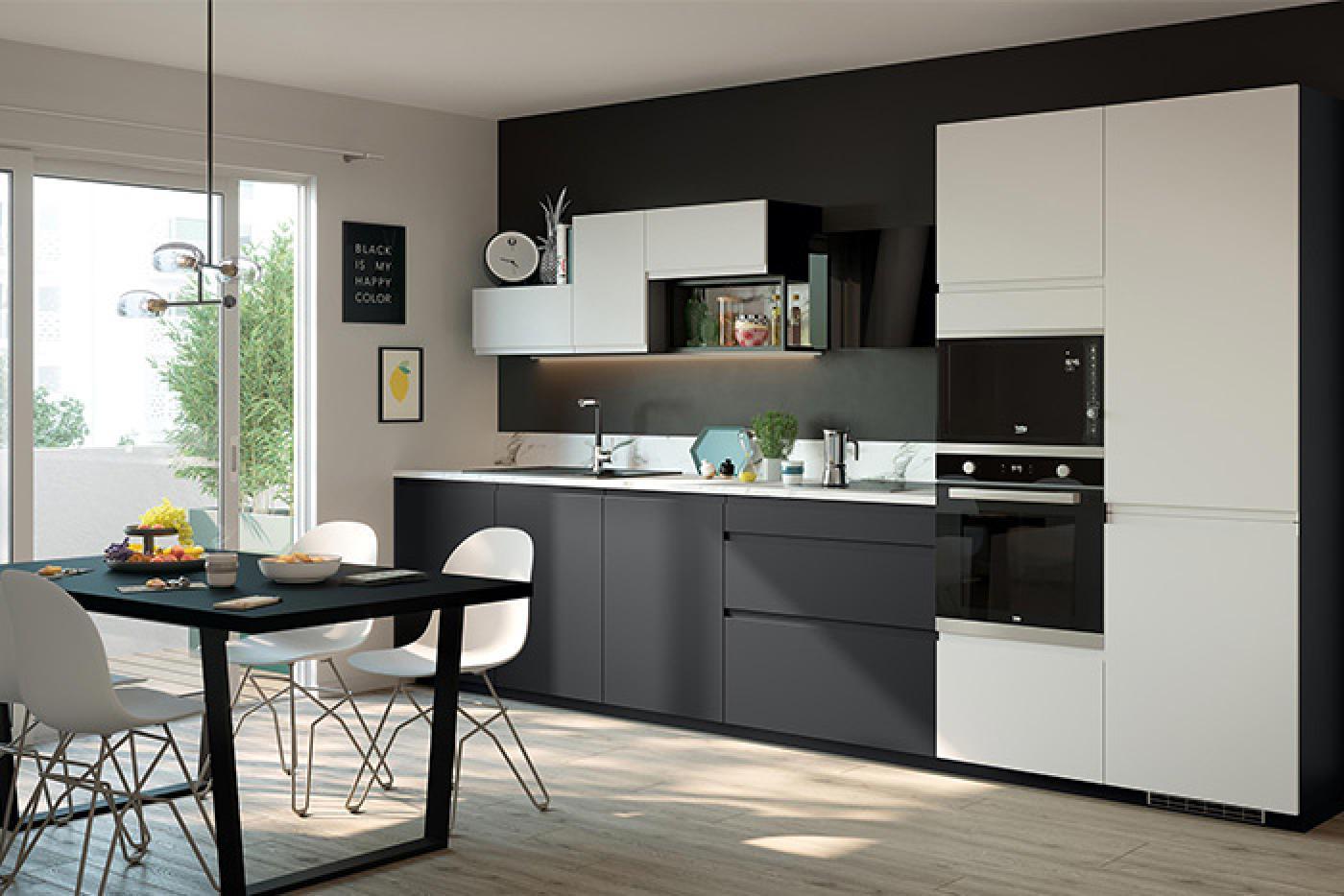 cuisine noire modeles de cuisines