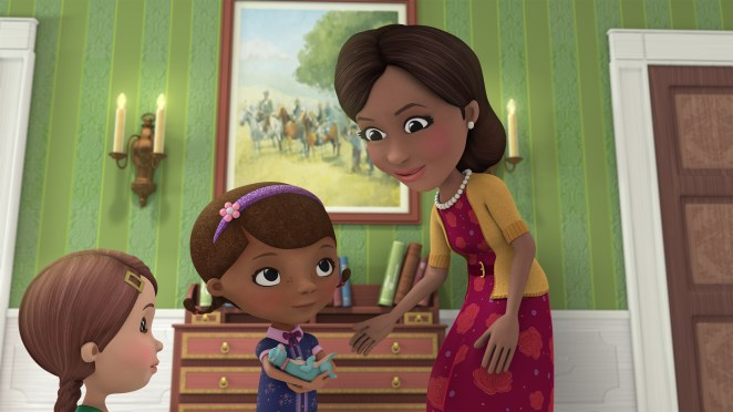 Doc and the toys travel to Washington D.C. to meet the First Lady of the United States, Michelle Obama, in a special episode of Disney Junior's acclaimed animated series  Doc McStuffins, .