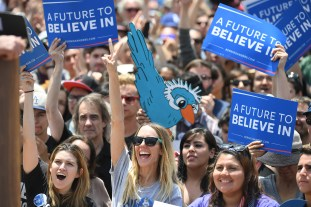 Image result for happy young people at rallies