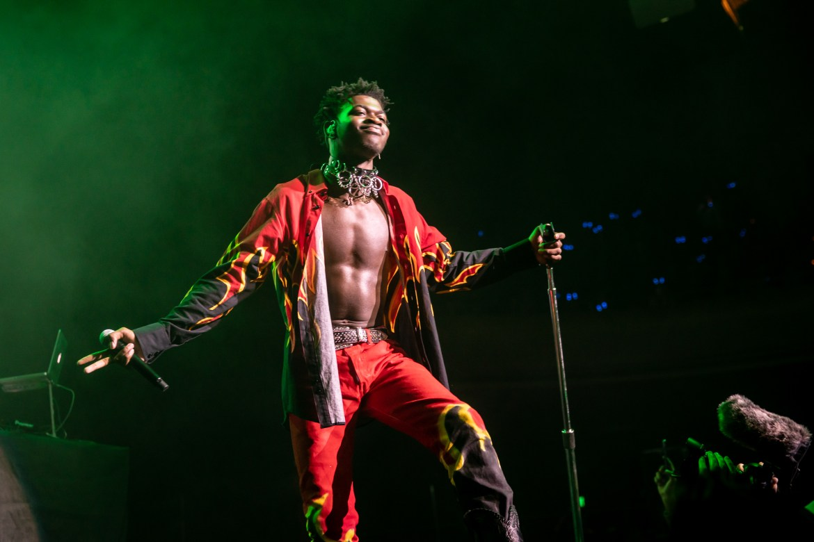 Lil Nas X performs at WiLD 94.9's FM's Jingle Ball 2019 on December 08, 2019 in San Francisco, California.