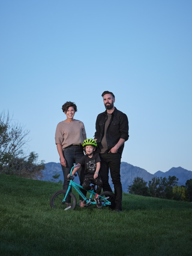 Kyl, Zoomer and Brent in Liberty Park in Salt Lake City on Aug.10