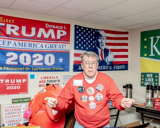 David Lawrence, partidario republicano, en Erie el 3 de noviembre.