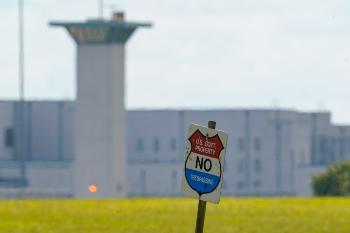 This photo shows the federal prison complex in Terre Haute, Ind., on Aug. 26, 2020.