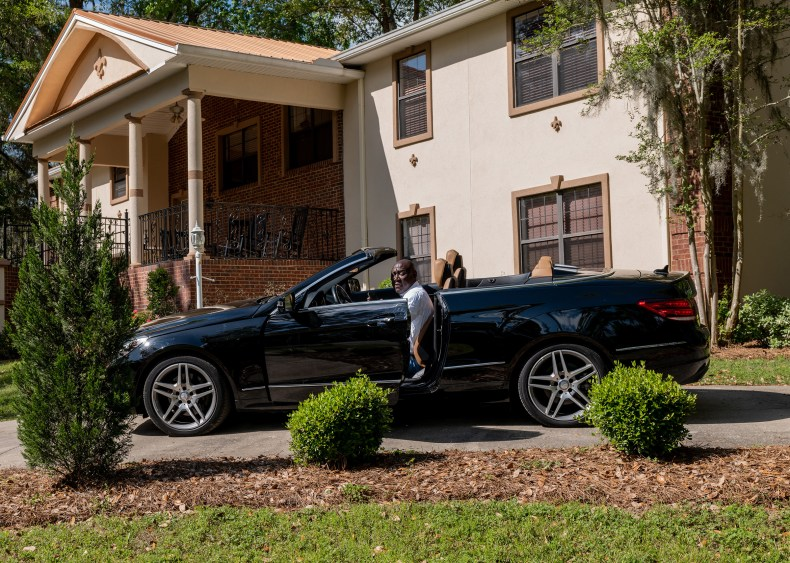 Crump in his driveway in Tallahassee, Fla., on April 4.