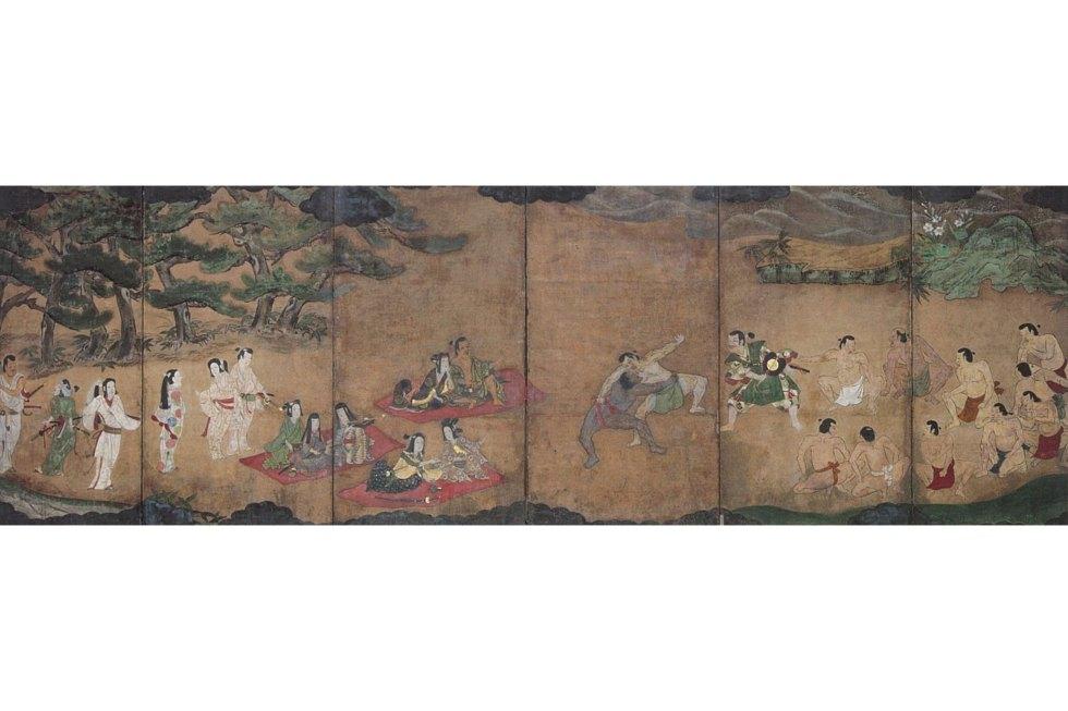 Sumō yūrakuzu byōbu