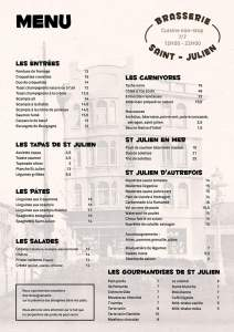 Brasserie saint Julien