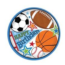 Sports Birthday Plates