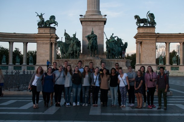 Study abroad students in Budapest