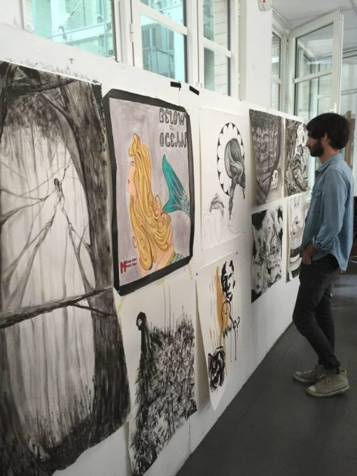 Explorations in drawing at Parsons Paris