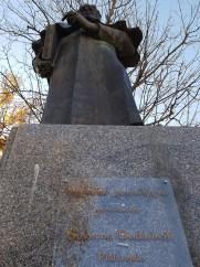 Georgian Philosopher's statue at the park