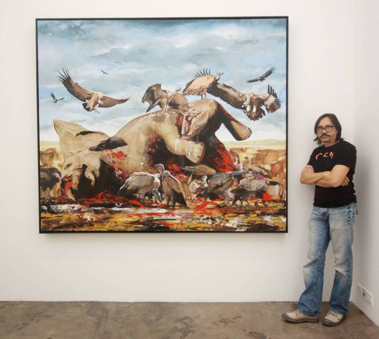Contemporary artist Ahmad Fuad Osman is part of the Climate group exhibit as well as the 'Why React? Making Art In Troubled Times' forum on Dec 5. Photo: Filepic