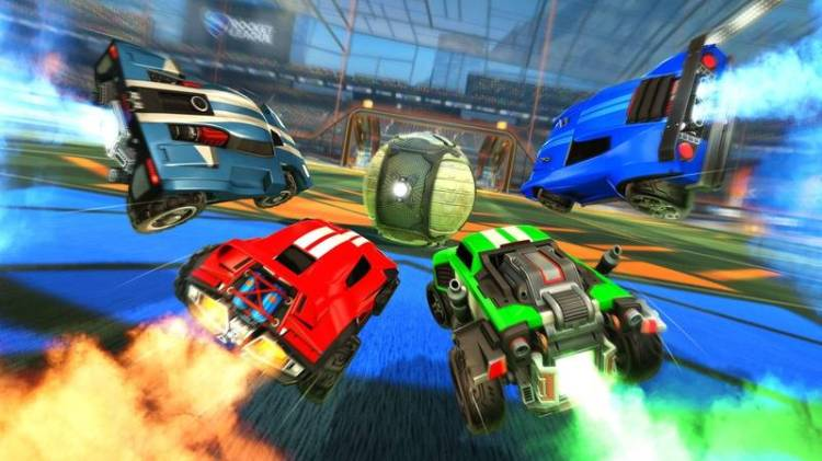 Fleet cars and a huge ball: The car football mania in Rocket League works great for family game nights. — Psyonix/dpa