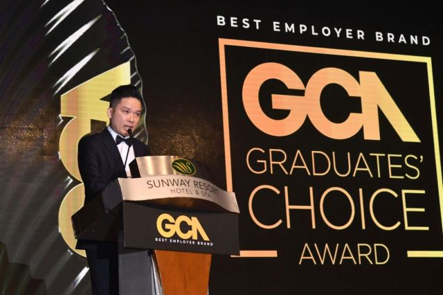 Talentbank's founder Ben Ho giving his opening speech at the GCA Awards Gala.