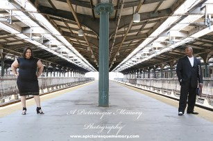 #weddings #apicturesquememoryphotography #engagement #bridetobe #groomtobe #weddingphotography #njwedding #engagementphoto #weddingphoto #hobokenterminal #hobokentrainstation #lackawannarailroad