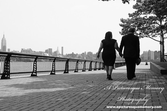 #weddings #apicturesquememoryphotography #engagement #bridetobe #groomtobe #weddingphotography #njwedding #engagementphoto #weddingphoto #hobokenterminal #hobokenpiers #empirestatebuilding