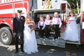 #firefighterwedding, #njwedding, #apicturesquememoryphotography, #njweddingphotographer, #weddingphotography, #pomptonlakesnjwedding, #firetruckweddingphotos