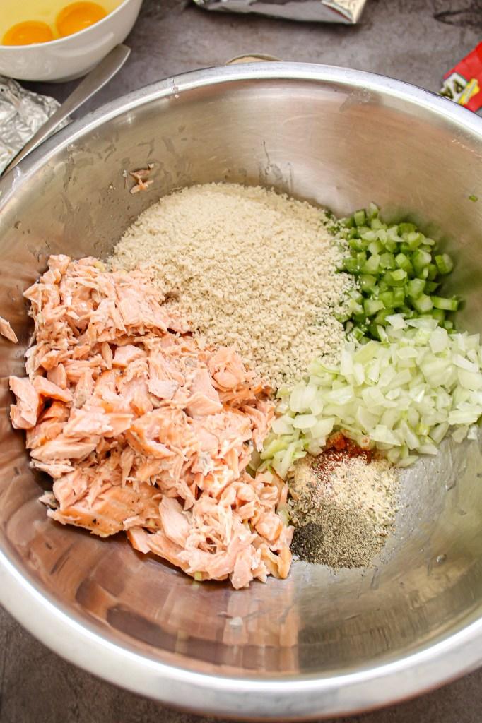 salmon cake prep
