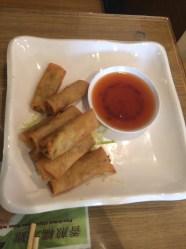 spring rolls w/ sweet chili dip