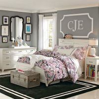 Key Pieces Teen Girl of Grey and White Bedroom Ideas