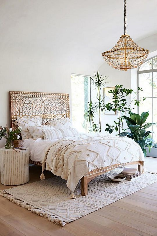 White Bedroom with Pops of Color Boho Small Spaces - Is it a Scam ...