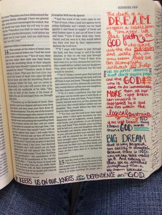 Journaling Bible | Dream Big   apileofashes.com