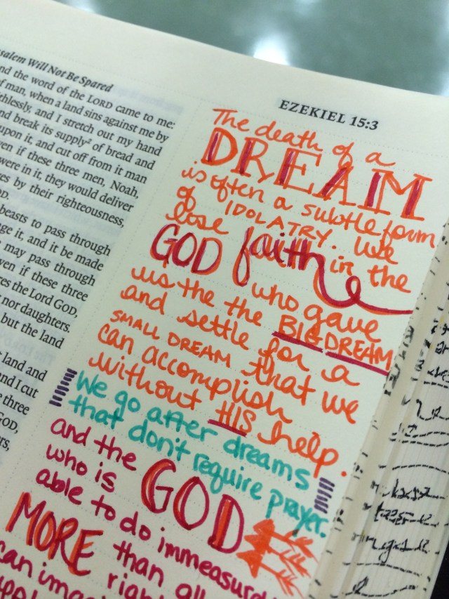Journaling Bible | Dream Big   apileofashes.com
