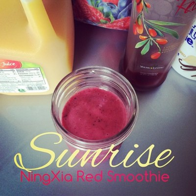Surise NingXia Red Smoothie | apilefoashes.com
