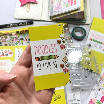 Doodles To Live By Kit | Illustrated Faith Bible Journaling Unboxing