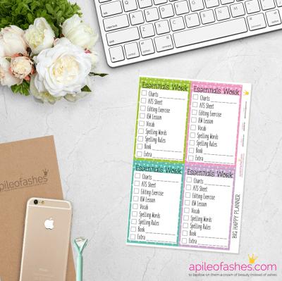 essentials girl big happy planner
