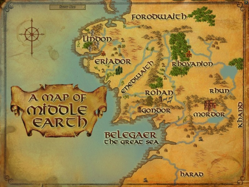 Middle Earth Map   A Pilgrim in Narnia Middle Earth Map