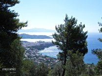 Skiathos town from a hill