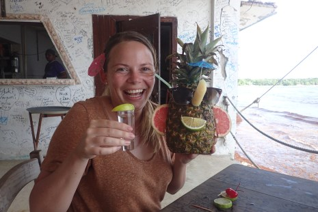 I got a free tequila shot for my pineapple enthusiasm